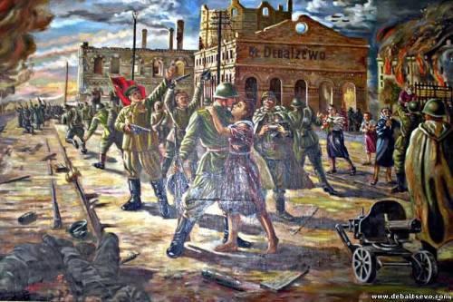 Освобождение вокзала в Дебальцево