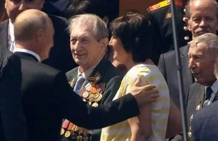 Наш ветеран на параде Победы в Москве