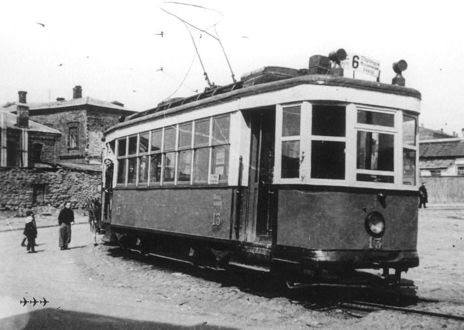 первый трамвай Сталино