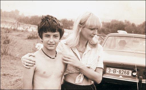 Нелли Луческу и сын Разван