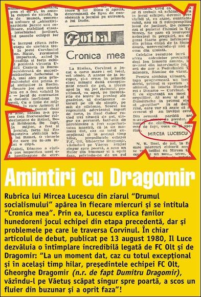 Заметка Луческу в газете Путь к социализму
