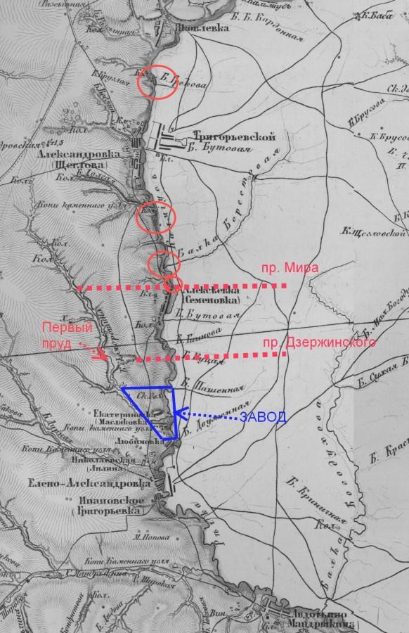 кальмиус карта