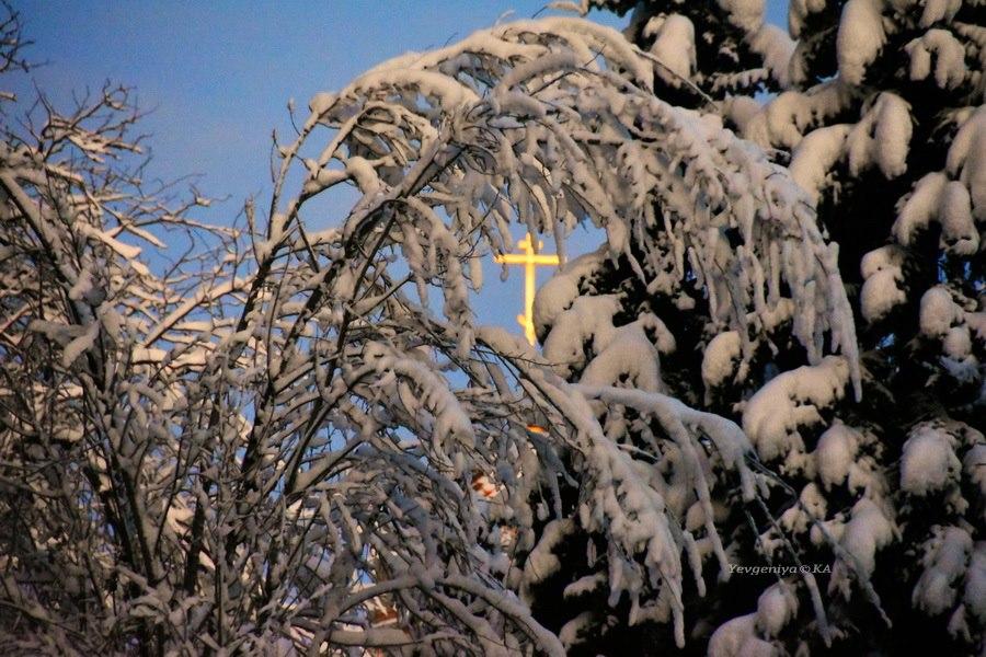 Зима в городе Донецк