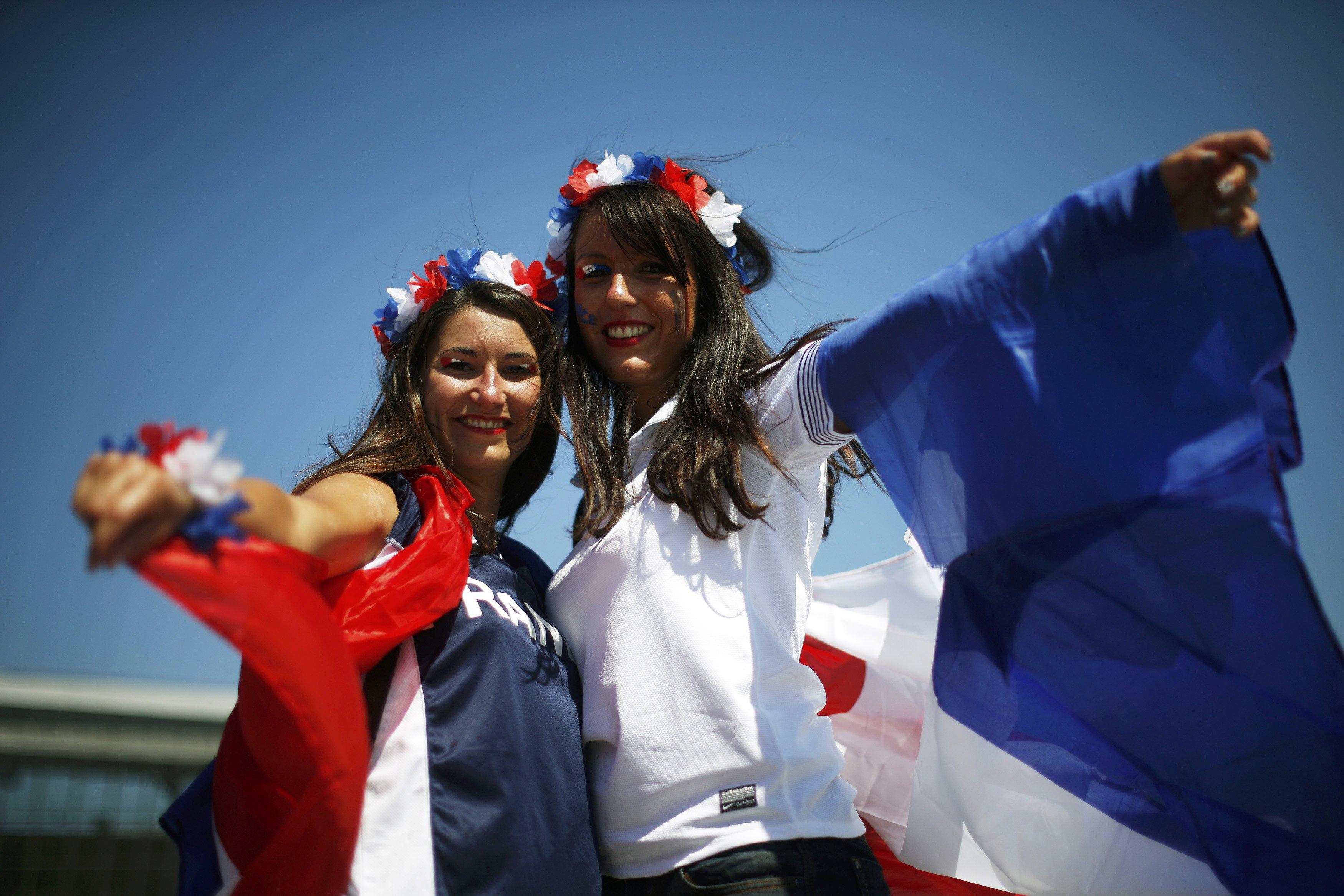Болельщицы сборной Франции