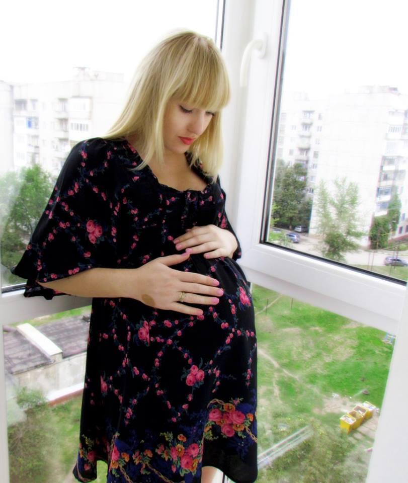 Беременная Кристина
