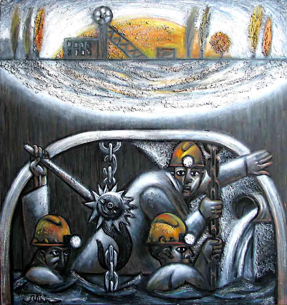 Картины Романа Минина Под небесами, землей, водой
