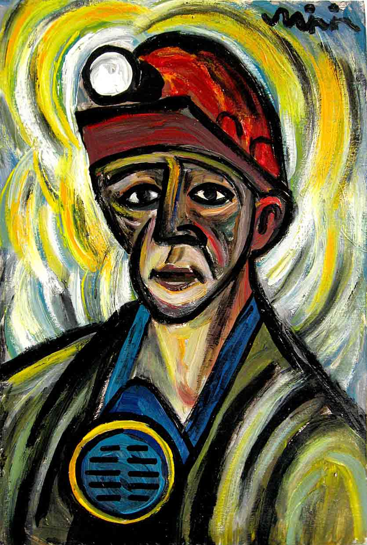 Картины Романа Минина Молодой шахтёр