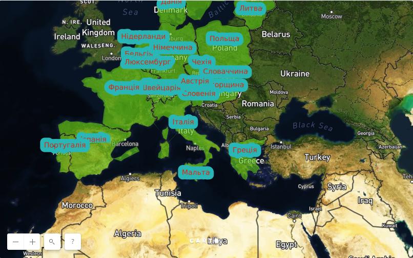 Карта Европы и деньги для безвизового режима