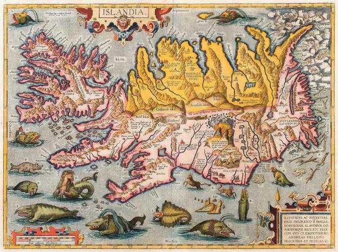 Древняя карта Исландии