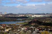 Донецкие пейзажи с высоты скипового ствола шахты имени М.И.Калинина