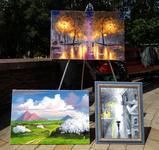 Картины на бульваре Пушкина летом 2019