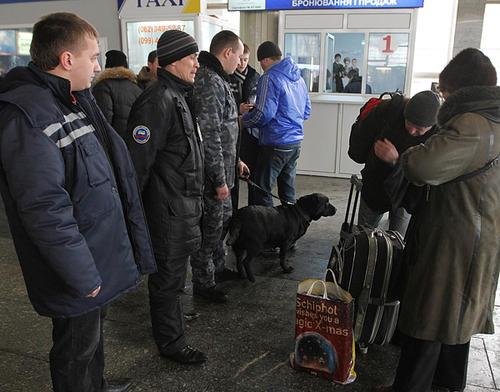 Досмотр в аэропорту Донецка