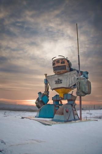 Гигантские человекоподобные роботы патрулируют рубежи Украины