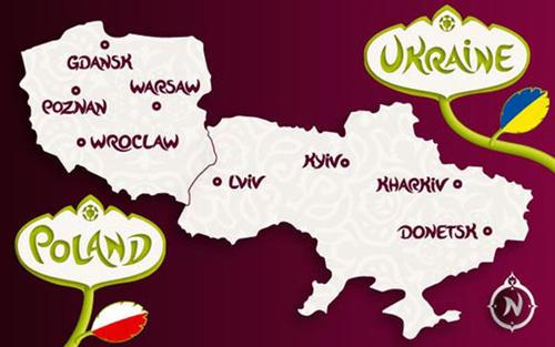 Карта Евро 2012