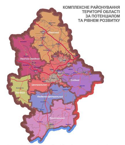 План семи районов