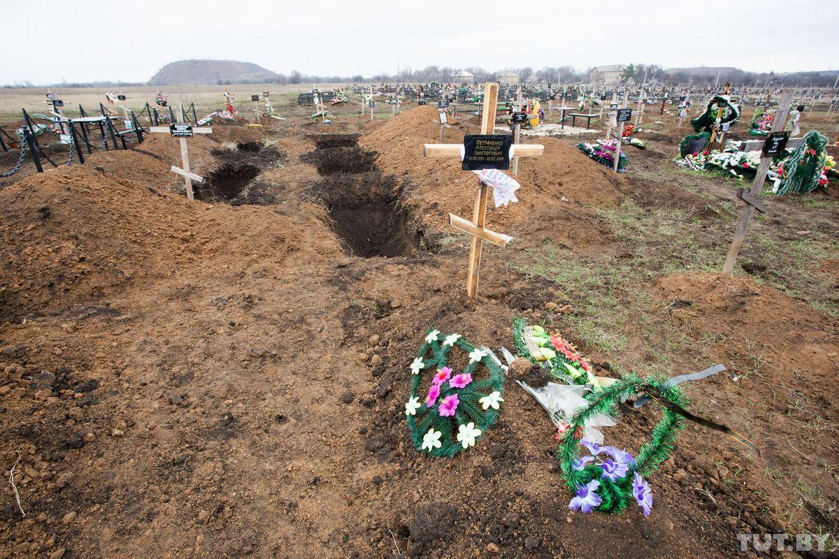 Свежие могилы