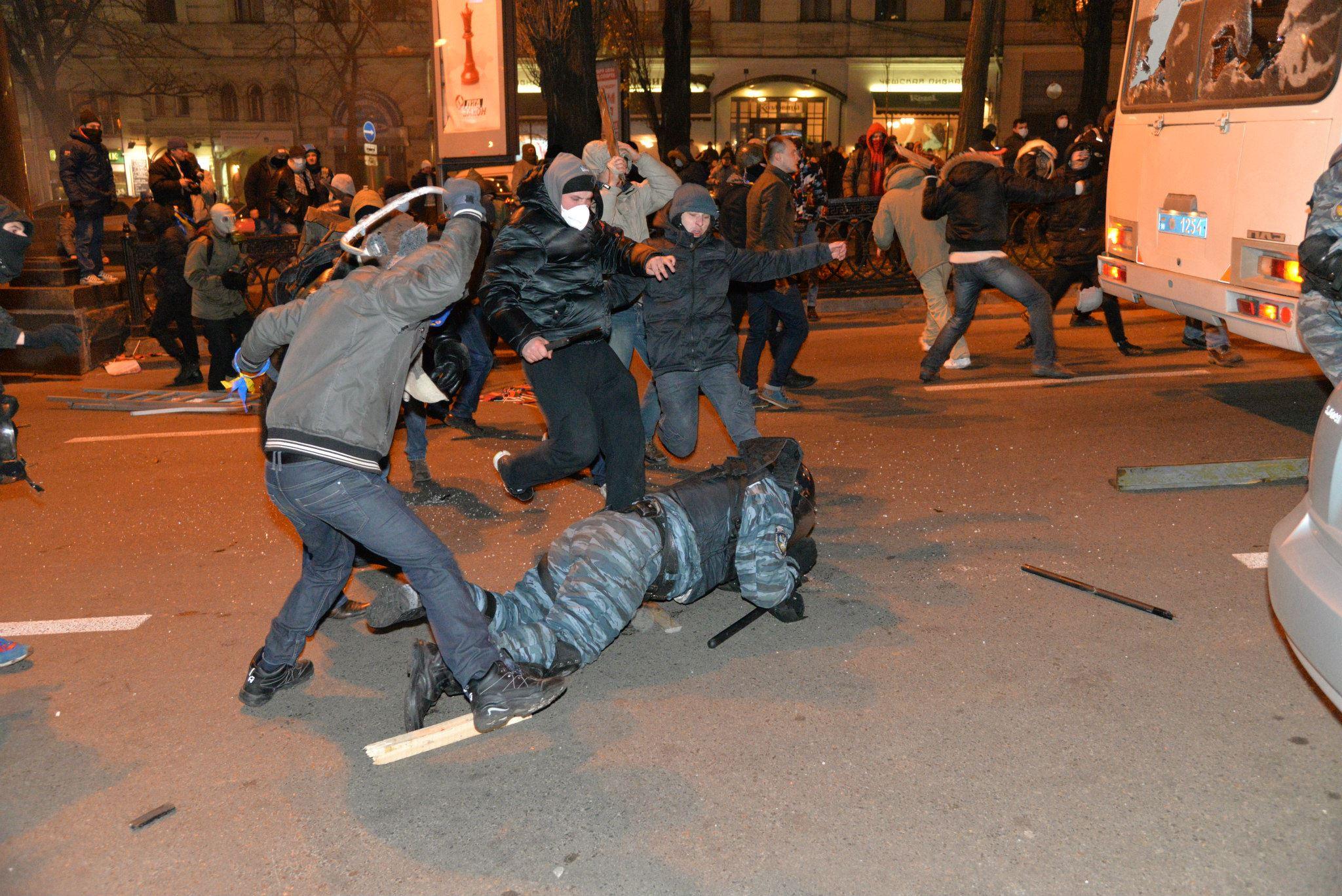 Мирные киевляне просто пришли выразить свой протест