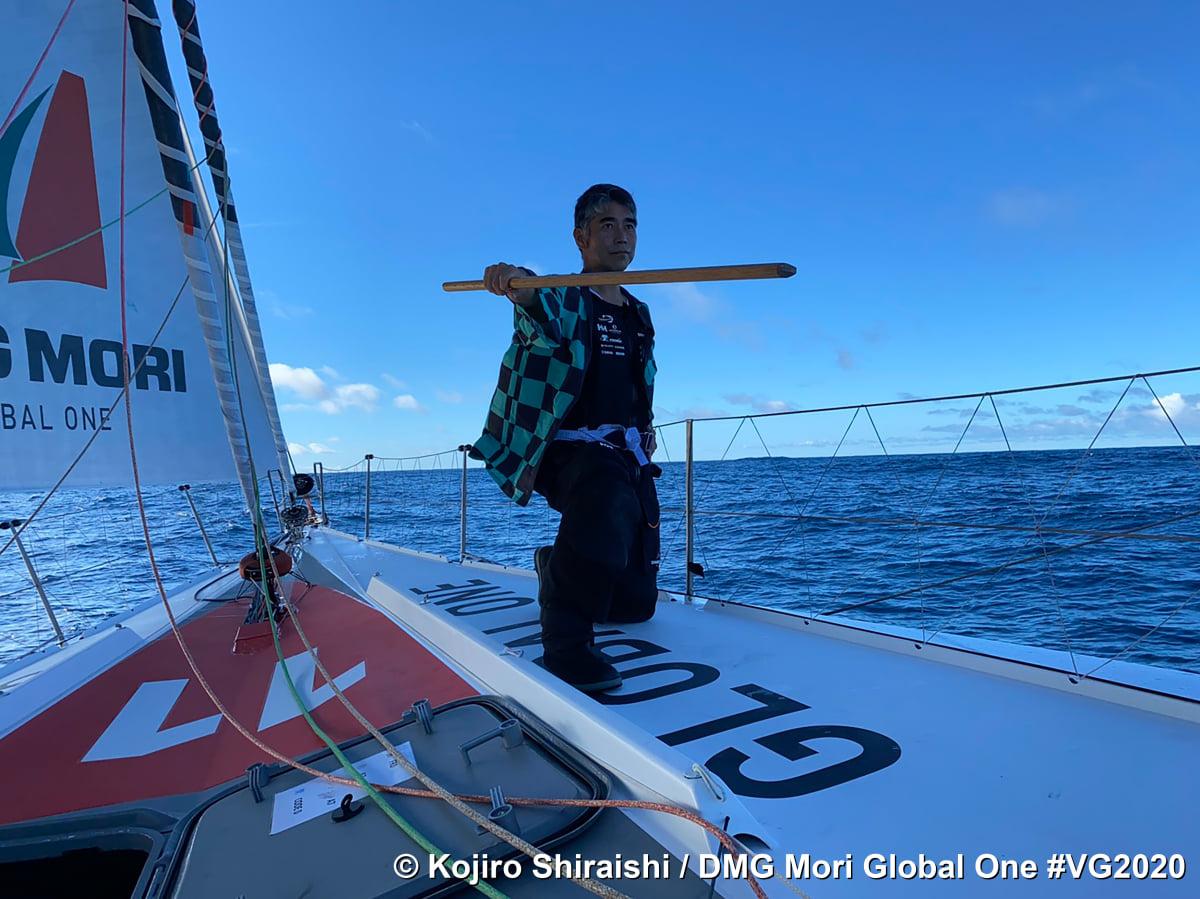 Шкипер Кохиро Широиши из Японии на Вандея Глоб