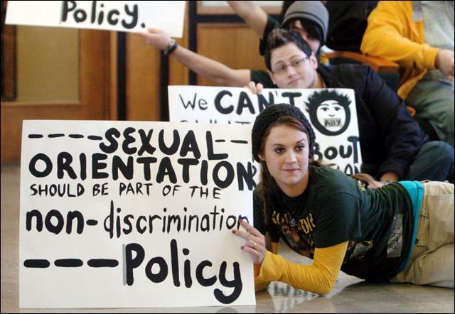 Студенты протестуют