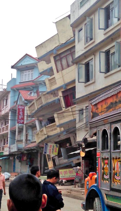 Mitra nagar, Katmandu через 15-20 минут после толчка