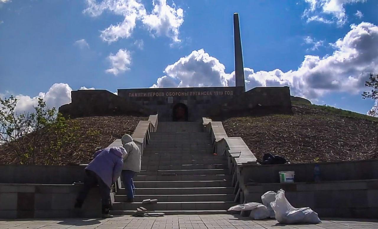 Острая могила в Луганске