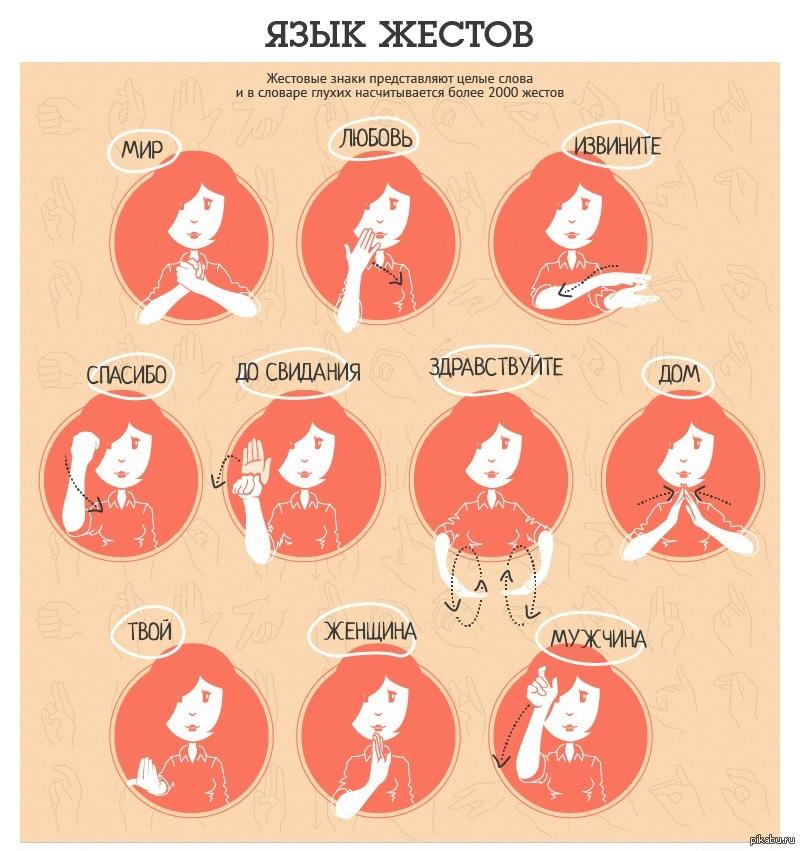 Русский жестовый язык и его самые простые и главные слова