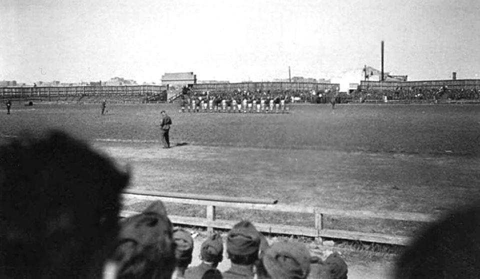 Футбол во время оккупации Сталино