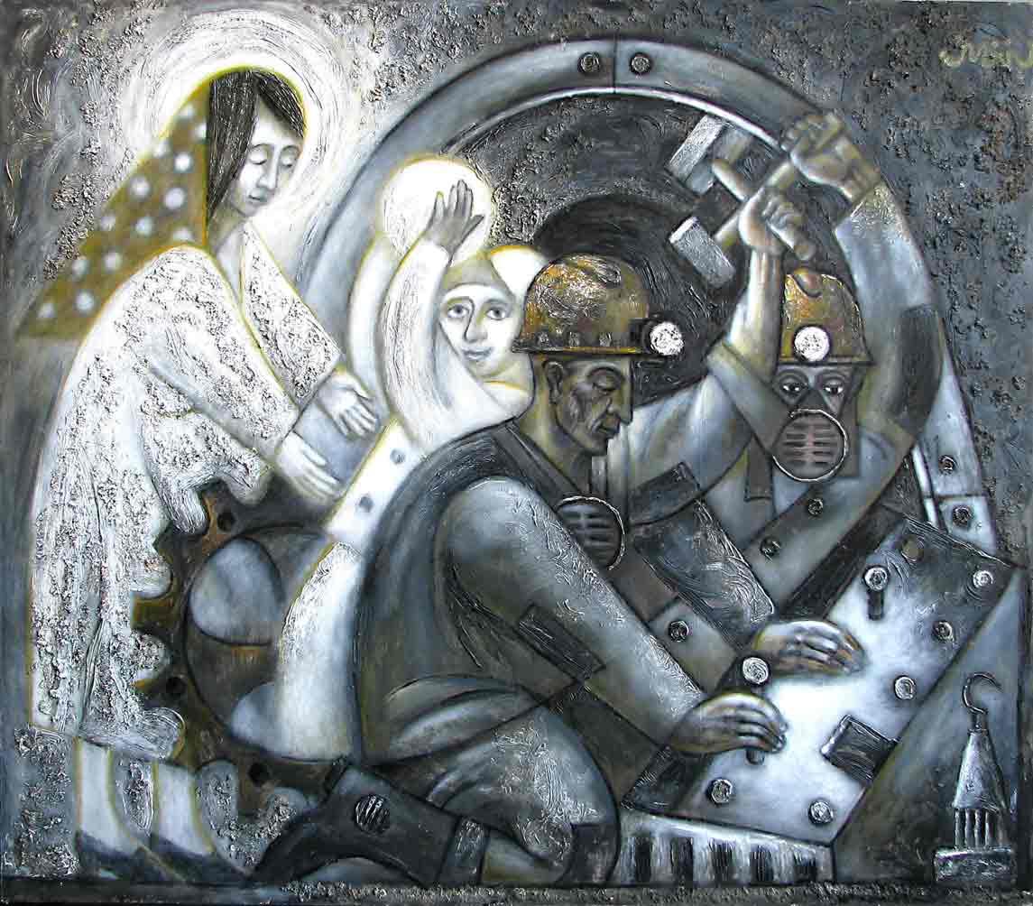 Картины Романа Минина Быть шахтёром